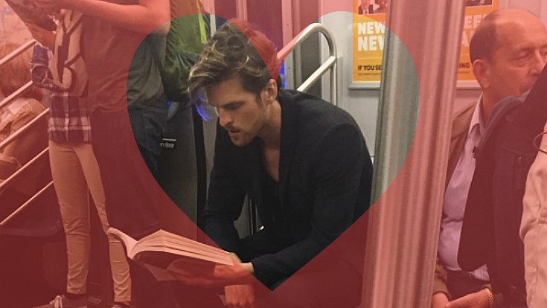We're sharing some hot dudes reading