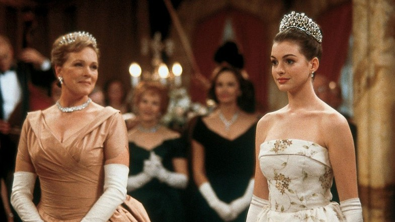 Julie Andrews and Anne Hathaway in Princess Diaries