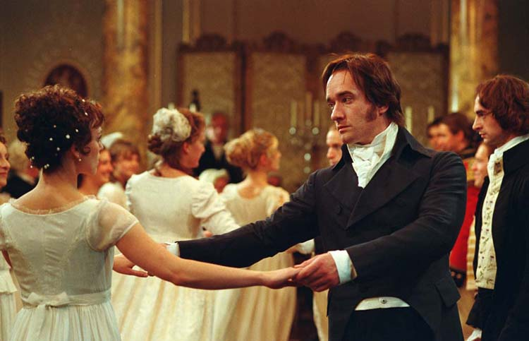 Elizabeth and Darcy dance in film of Pride and Prejudice