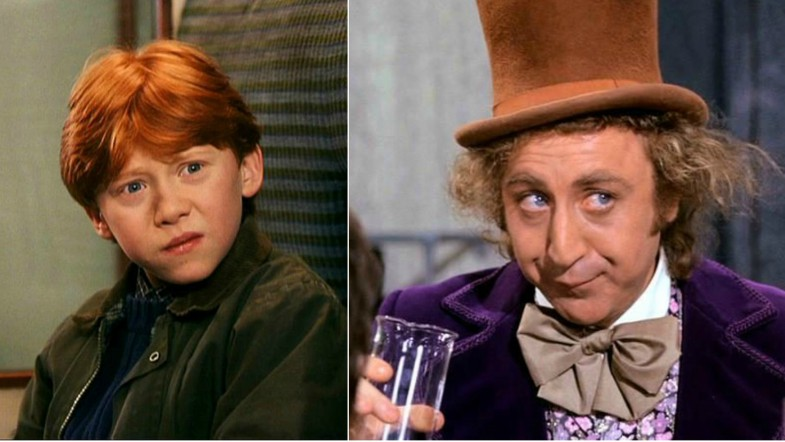 Ron Weasley and Willy Wonka