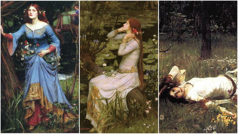 3 Ophelias by John Waterhouse