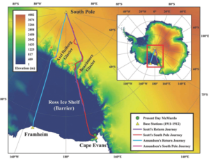 Thermal map of the Ross Ice Shelf
