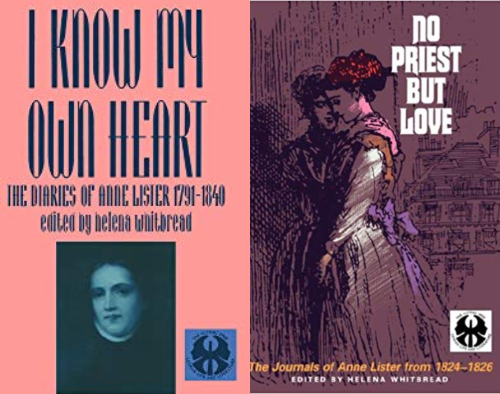 book covers of 'I Know My Own Heart' and 'No Priest But Love'