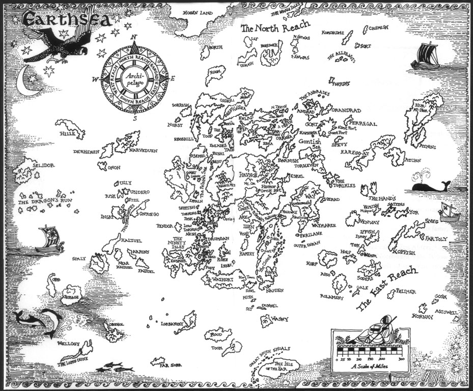 The archipelago of islands dotting the world of Earthsea