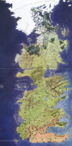 A picture of Westeros in A Song of Ice and Fire from the Dornish deserts to the Land of Always Winter