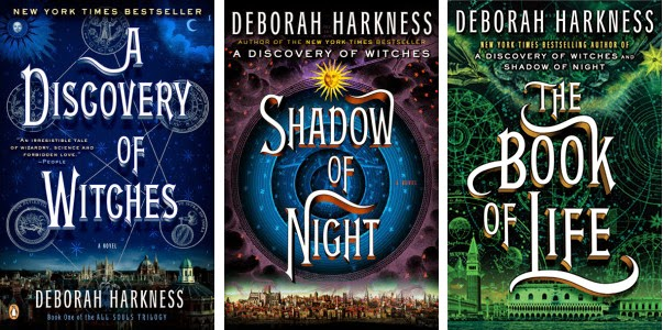 The three covers of the All Souls Trilogy