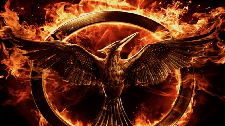 The Hunger Games Mockingjay movie tie-in book cover