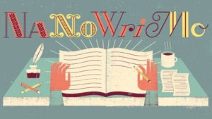 NaNoWriMo illustrated logo