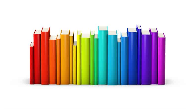 Rainbow Book Spines
